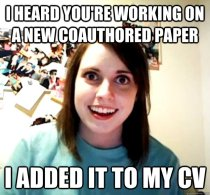 Overly Attached Coauthor